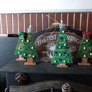 Handmade wood Christmas trees